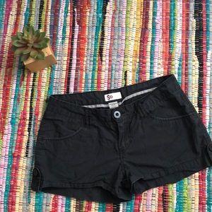 So black shorts